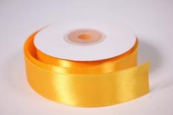 Лента атласная - 2,5см*25ярд оранжевый 17 (Н). К