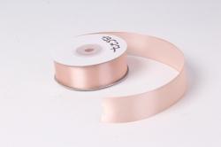 Лента атласная 2,5см*25ярд розовый пастель(Н) К