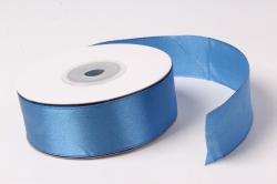 Лента атласная 2,5см*25ярд синий 40  (Н).  К