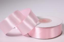 Лента атласная - 2,5см*25ярд св. розовый 4 (Н). К