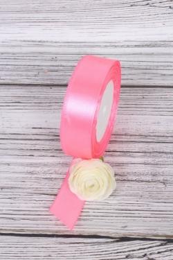 Лента атласная - 2,5см*25ярд ярко-розовый 5 (Н). К