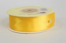 Лента атласная - 25мм*20м, Лимон 251008 К