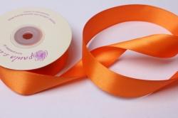 Лента атласная 25мм х 20м,  Оранжевая К 251011