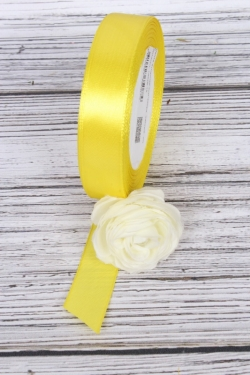 Лента атласная 2см*25ярд  желтый  (Н) К