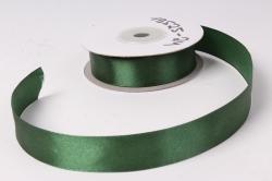 Лента атласная 2см*25ярд  темно-зеленый   (Н) К