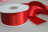 Лента атласная (38мм х 30м) Красная Китай