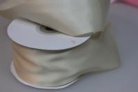 Лента атласная (50 мм х 30 м) Кремовая Китай