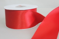 Лента атласная (50мм х 30м) красная китай
