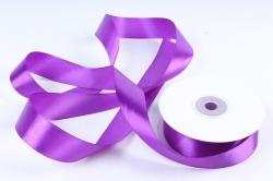 Лента атласная гладкая, односторонняя, 25мм х 25м (фиолетовый 1108)  М. К