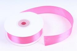 Лента атласная гладкая, односторонняя, 25мм х 25м (фуксия 1024) М. К