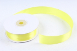 Лента атласная гладкая, односторонняя, 25мм х 25м (лимонный 1069)  М. К