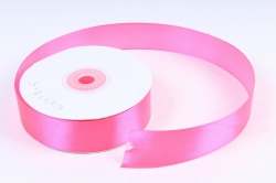 Лента атласная гладкая, односторонняя, 25мм х 25м (ярко-розовый 1038) М. К