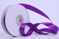 Лента атласная гладкая, односторонняя, 15мм х 25м (фиолетовый 1108)  К