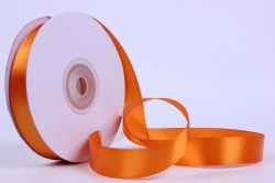 Лента атласная гладкая, односторонняя, 15мм х 25м (оранжевый 1099)  К