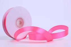Лента атласная гладкая, односторонняя, 15мм х 25м (ярко-розовый 1038)  К