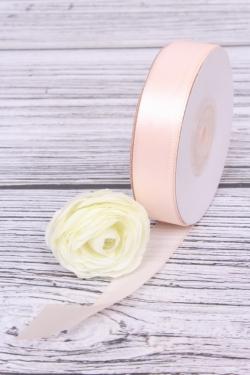 Лента атласная (кат. А), в катушке (картон) гладкая, односторон, 15 мм х 25 ярд, нежно-розовый 0650М