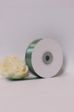 Лента атласная (кат. Б), на катушке (картон), односторонняя, 25 мм х 25 м, светло-зеленый 7772М