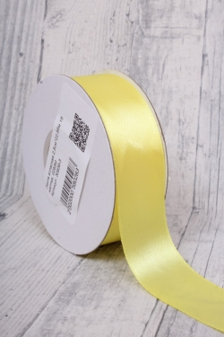 Лента атласная 2,5см*22,85м 15 желтая, 0283М