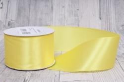 Лента атласная 5см*22,85м 15 желтая 0016М