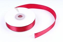 Лента атласная, в катушке (картон) гладкая, односторонняя, 15мм х 25м, Бордовый (М), К