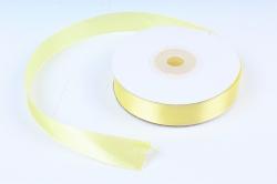 Лента атласная, в катушке (картон) гладкая, односторонняя, 15мм х 25м, Желтый (М), К