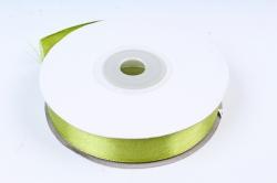 Лента атласная, в катушке (картон) гладкая, односторонняя, 15мм х 25м, Травяной (М),К