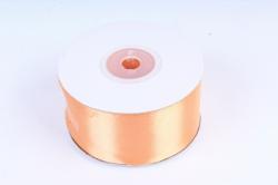 Лента атласная, в катушке (картон) гладкая, односторонняя, 38mm x 25m, Оранжевый (М), К