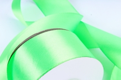 Лента атласная, в катушке (картон) гладкая, односторонняя, 38mm x 25m, Зеленый (М), К