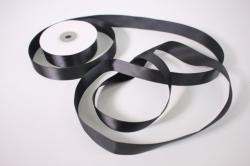 Лента атласная, в катушке (картон) гладкая, односторонняя, 25мм х 25м (черная 1132) М, К