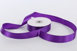 Лента атласная, в катушке (картон) гладкая, односторонняя, 25мм х 25м (фиолетовая 1108)