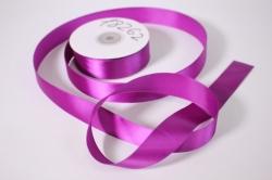 Лента атласная, в катушке (картон) гладкая, односторонняя, 25мм х 25м (темно-фиолетовая 1110) М, К