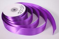 Лента атласная, в катушке (картон) гладкая, односторонняя, 38мм х 25м (фиолетовая 1108) М, К