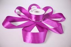 Лента атласная, в катушке (картон) гладкая, односторонняя, 38мм х 25м (темно-фиолетовая 1110) М, К