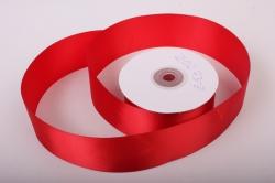 Лента атласная, в катушке (картон) гладкая, односторонняя, 50мм х 25м (красный 1029) К