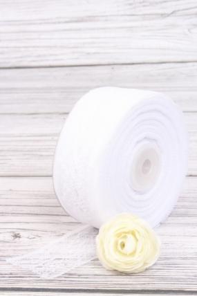 """Лента декоративная """"Кружево"""", 4 см х 25 ярд., белый 7178М"""