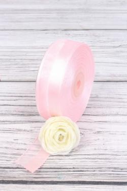 """Лента декоративная """"Половинки"""", 25 мм х 25 м, нежно-розовый 7031М"""