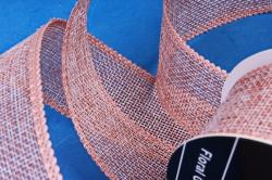 Лента джутовая, 3,8см*10м персик (Н)