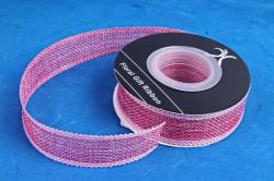 Лента джутовая, 2,5см*10м розовый (Н)