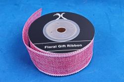 Лента джутовая, 3,8см*10м розовый (Н)