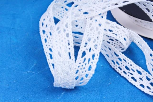Лента Кружево 1,3см*10м белый (Н)