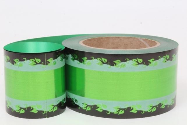 Лента металл с рисунком (6см*50ярд) МР603 зелёный
