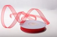 Лента органза  (0,9см27м) - Красная