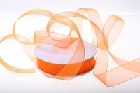 Лента органза  (1,6см27м) -Оранжевая
