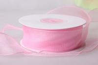 Лента органза (2,5см на 25ярдов) Н - Светло-розовый