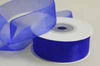 Лента органза 25мм х 20ярд синяя П 040