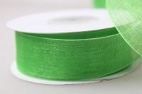 Лента органза  25мм х 25ярд Зеленый