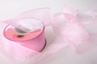 Лента органза 40мм х 25ярд Розовая  К