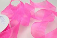 Лента органза 40мм х 25ярд Ярко-розовая  К