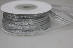 Лента парча (03мм х 50м) серебро Китай