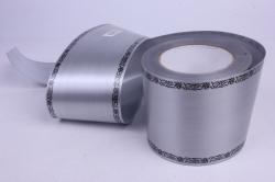 Лента простая (10см*50м) С дубками по краям P1004 СЕРЫЙ